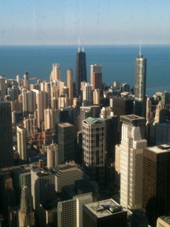 Chicago from skyscraper