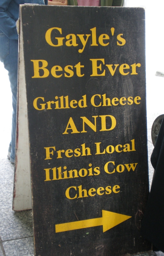 Sign at Farmer's Market in Daley Plaza