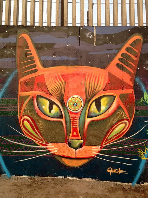 Cat Street Art, Gauche, Lima