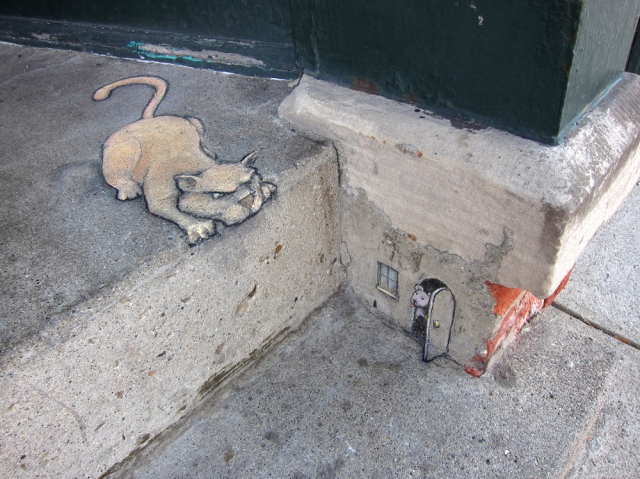 Cat by David Zinn